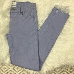 Lou & Grey Light Purple Skinny Jeans Raw Hem 24